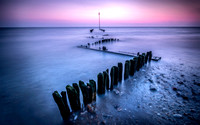 Heacham beach at dusk and high tide 12in x 17in (approx size) £150 - 9 of 10 left