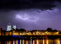 Lightning Storm over King's Lynn waterfront 12in x 16in (approx size) £125 - 9 of 10 left