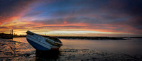 Boat at Brancaster Staithe at sunset in winter 10in x 23in (approx size) £150 - 10 of 10 left