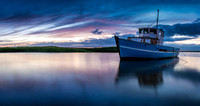 Blue boat at dusk, Brancaster Staithe 29in x 55in (approx size) £375 - 4 of 5 left