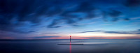 Beacon on Heacham beach at dusk 10in x 26in (approx size) £150 - 10 of 10 left
