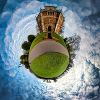 Little Planet 360 of the Red Mount Chapel in King's Lynn